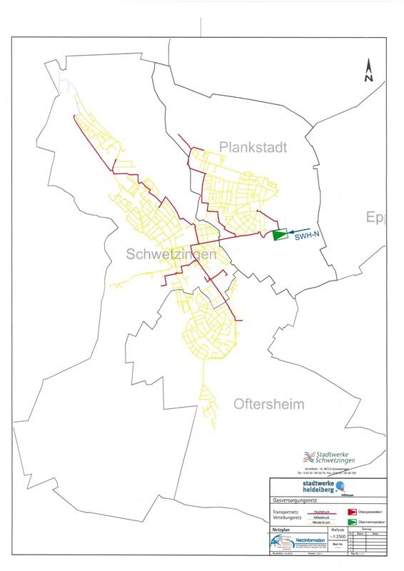 Gasnetzkarte