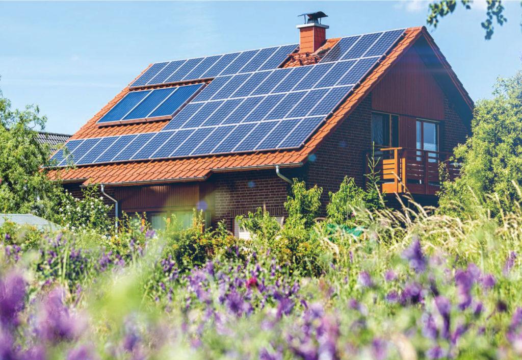 Solardach auf einem Privathaus